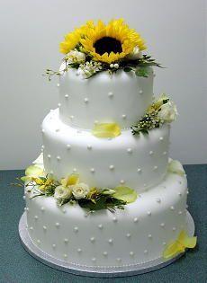 Wedding - Wedding Cakes Pictures: Sunflower Wedding Cakes
