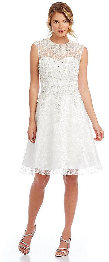 c096321399 Sue Wong Beaded Lace Fit-and-Flare Dress  2366601 - Weddbook