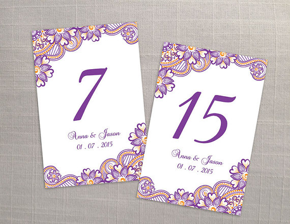 DIY Printable Wedding Table Number Template #2366758 - Weddbook