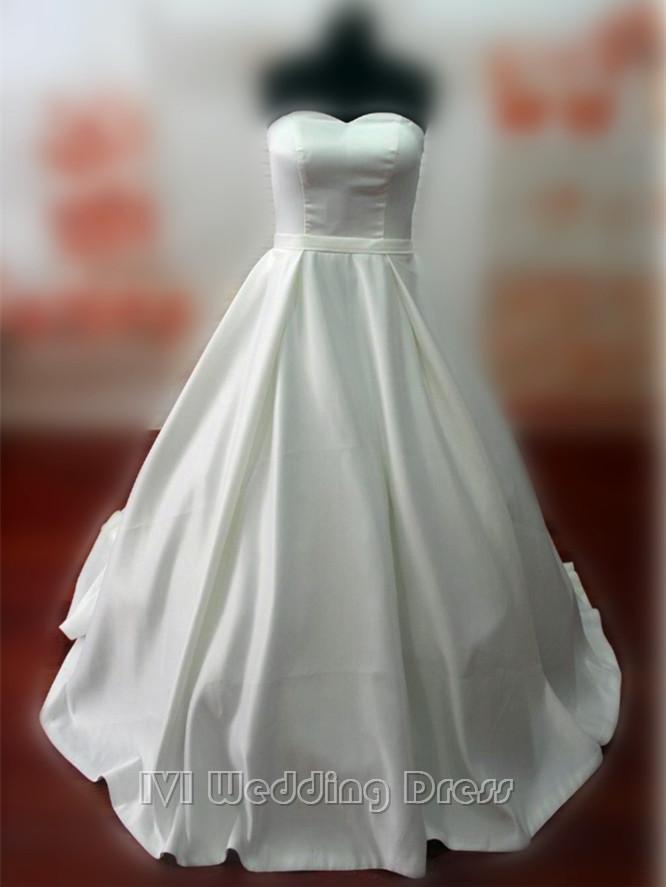 Wedding - Real Samples Vintage Princess Wedding Dress A-line Taffeta Pick-up Skirt Bridal Gown Custom Made Wedding Gown