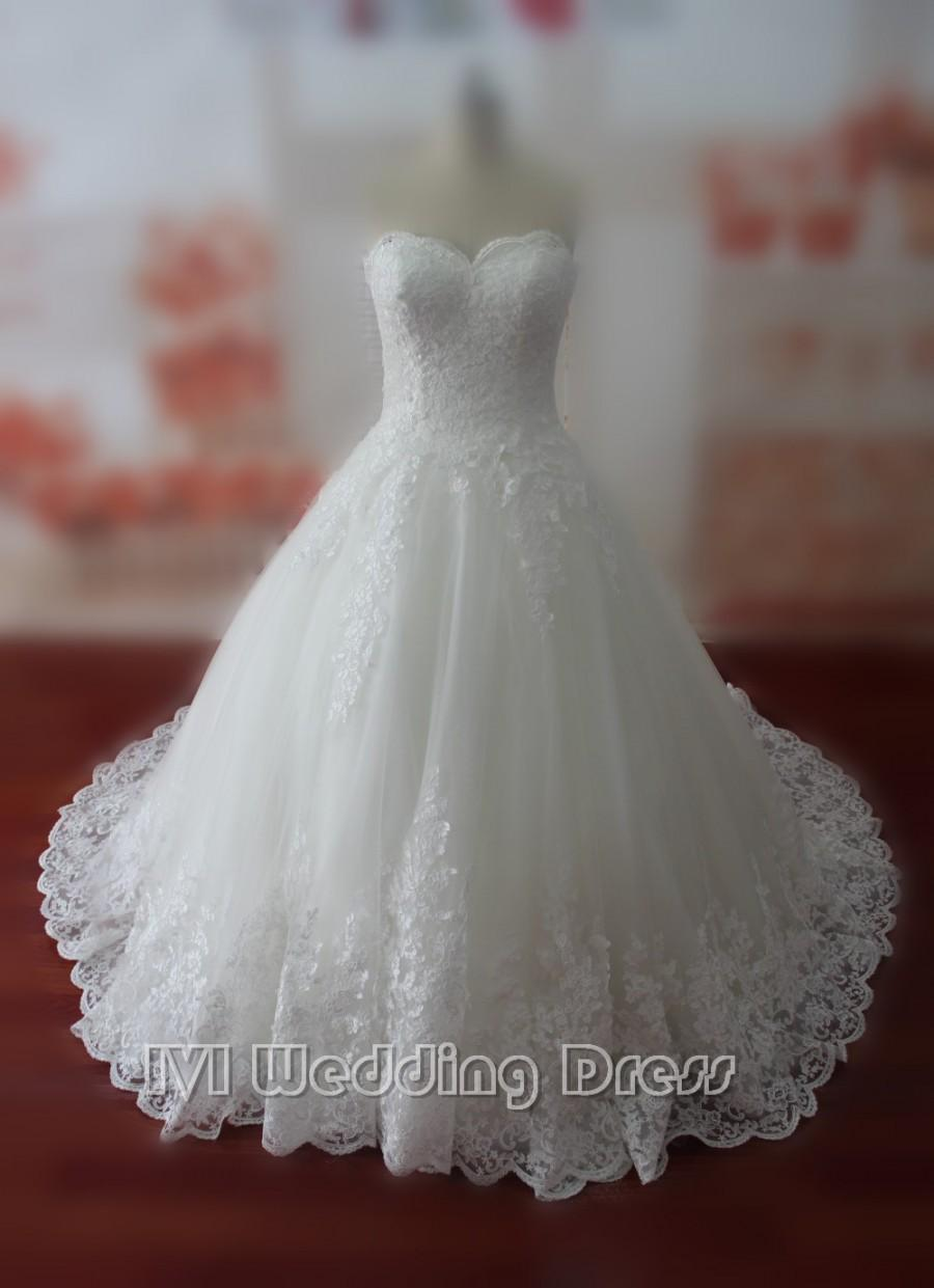 Real Samples Lace Wedding Dresses Sweetheart Bridal Gowns Custom Made Gown Vestido De Noiva