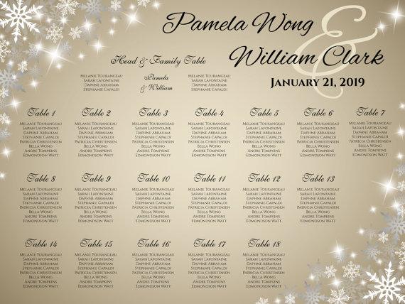 Hochzeit - DIY Printable Wedding Seating Chart
