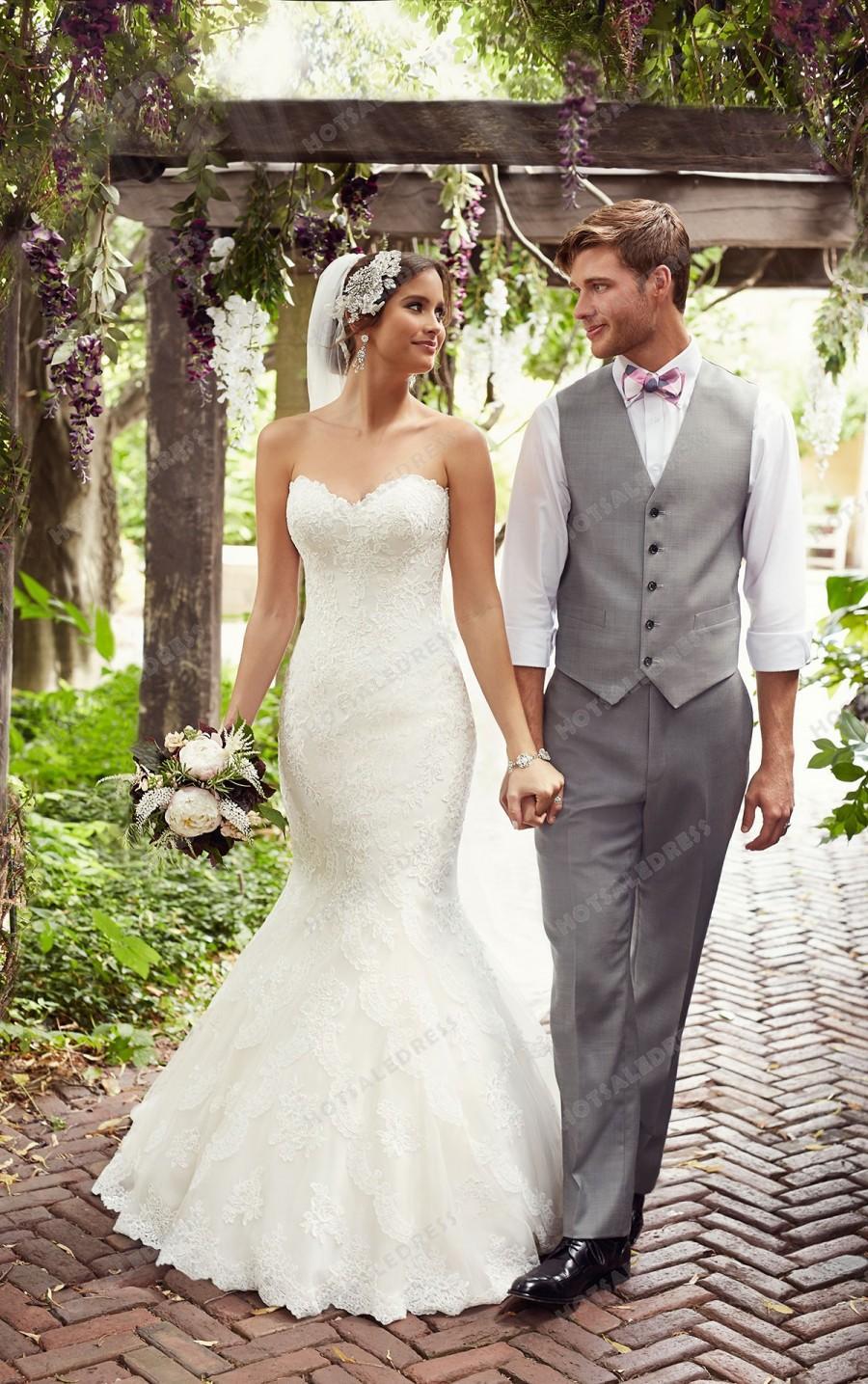Свадьба - Essense of Australia Sweetheart Neckline Wedding Dresses Style D1846