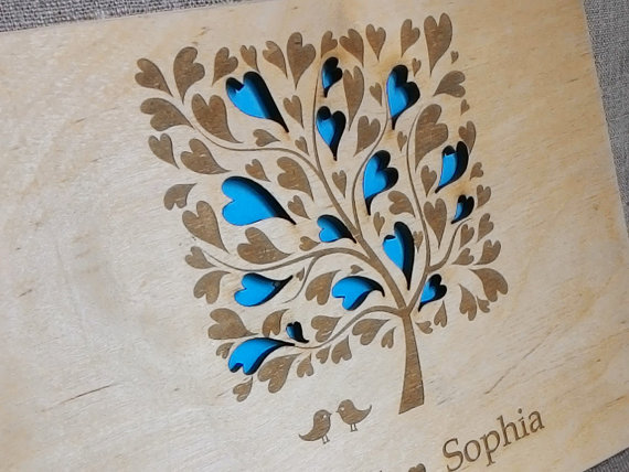 Mariage - Rustic GuestBook, Wooden Guest Book, Custom wedding guestbook, Rustic Wedding Guest Book, Tree guestbook