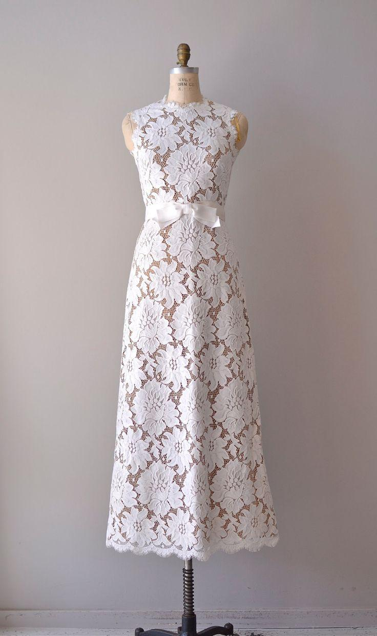 vintage lace wedding dress / 1960s wedding gown / love's legacy