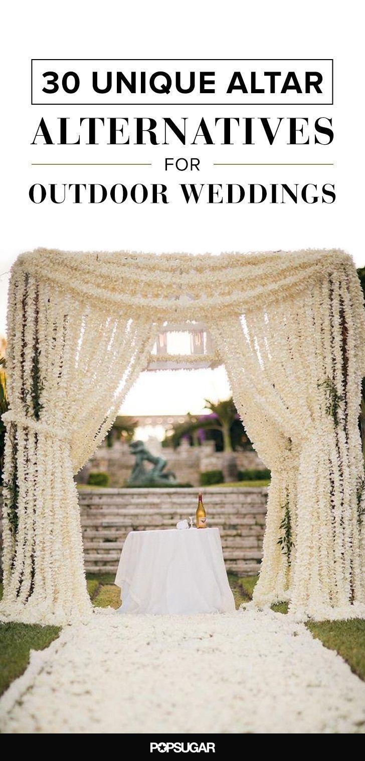 Свадьба - 30 Unique Altar Alternatives For Outdoor Weddings