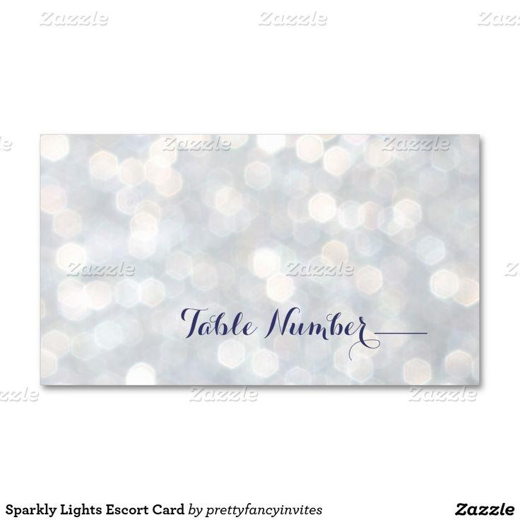 Sparkly Lights Escort Card Double-Sided Standard Business Cards ...