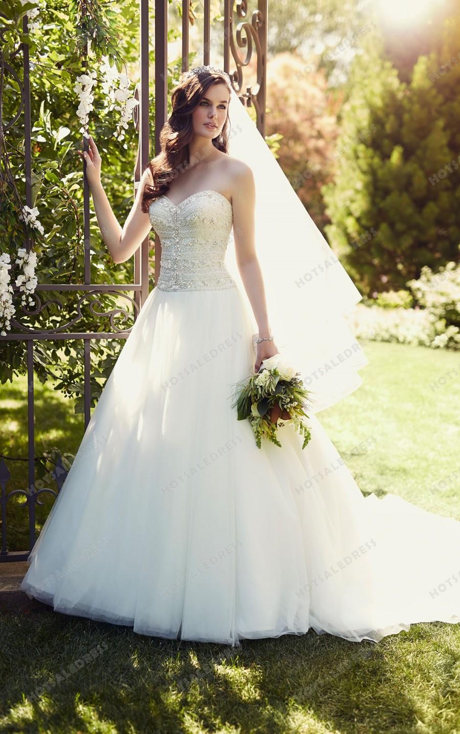 زفاف - Essense of Australia Strapless Designer Wedding Dresses Style D1812