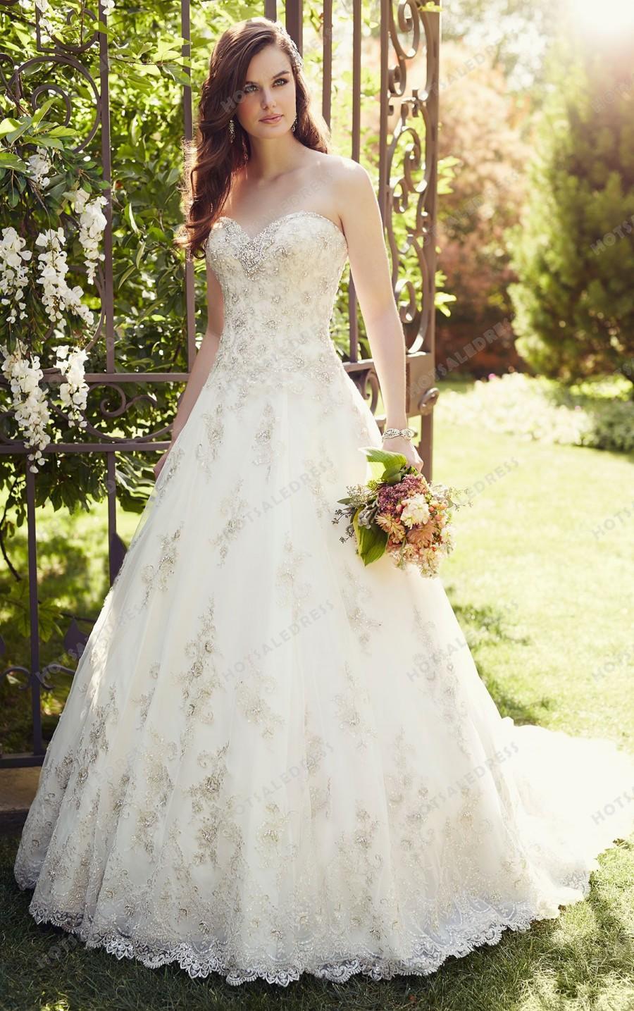 Hochzeit - Essense of Australia A-Line Wedding Dress Style D1757