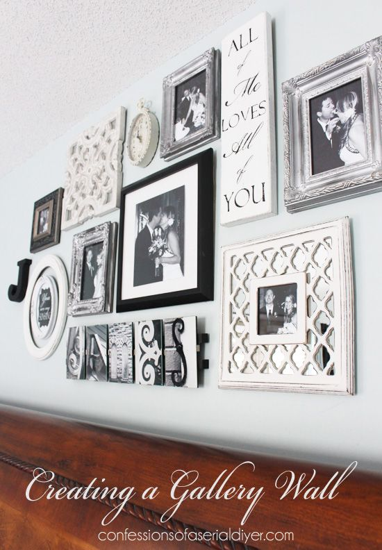 Wedding - Bedroom Gallery Wall: A Decorating Challenge