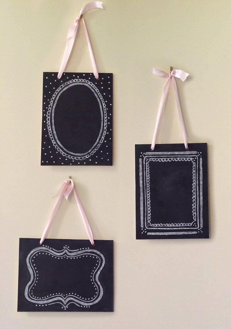 زفاف - Items Similar To Set Of 3 Vintage Chalkboards - Shabby Chic Decor - Wedding Chalkboards -  Hanging Chalkboards On Etsy