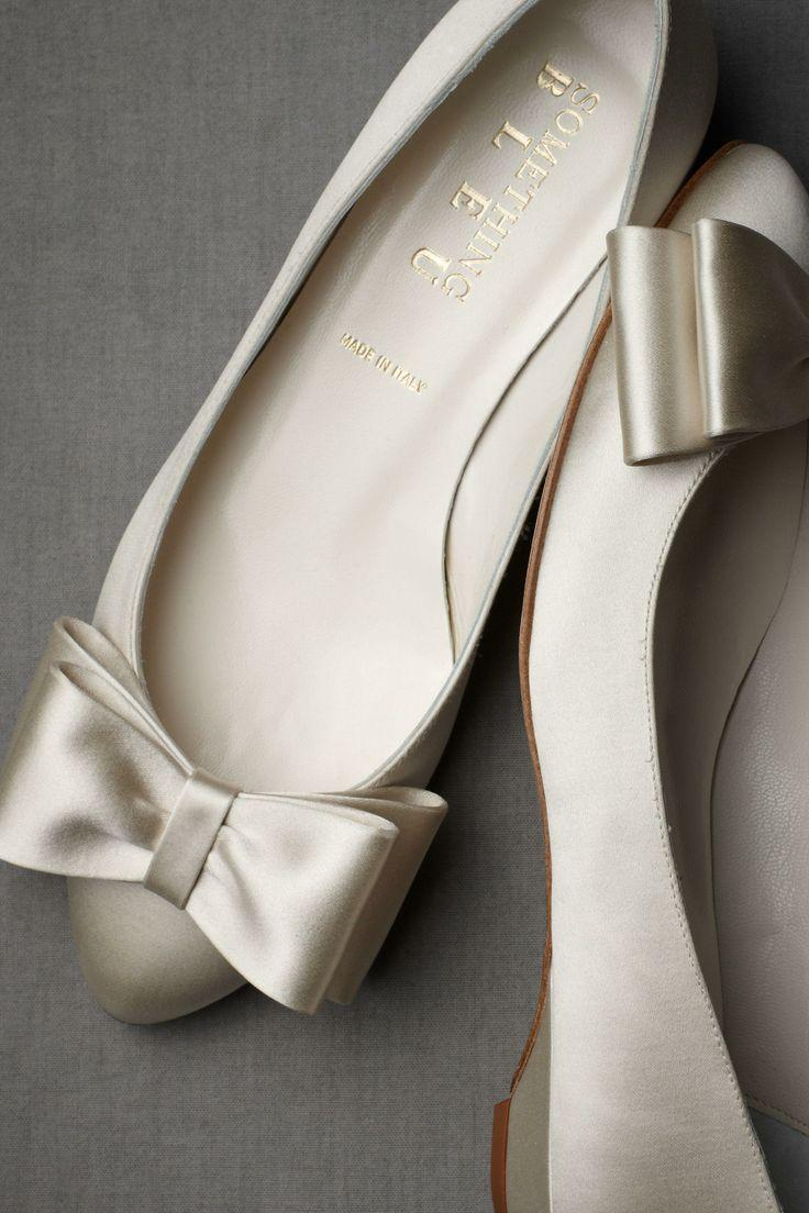 Bowtie Flats   Wedding Shoes By BHLDN   Loverly