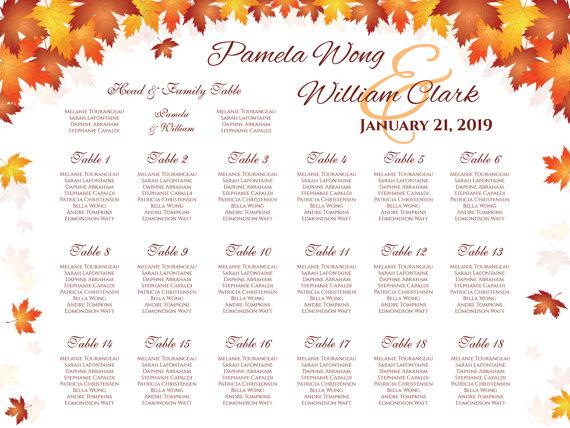 Свадьба - DIY Printable Wedding Seating Chart