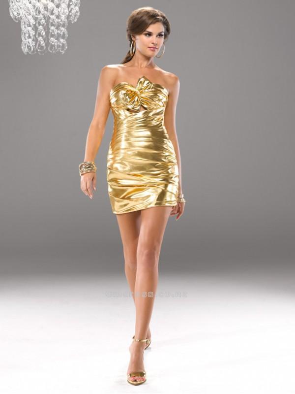 Свадьба - Sexy Sheath Sweetheart Taffeta with Bow Mini-Length Prom DressSKU: PD00076-FL