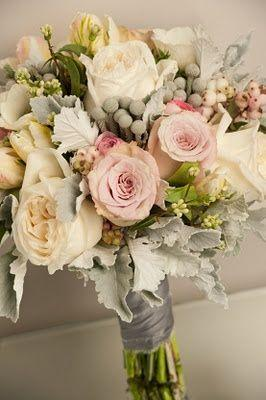 Bouquet/Flower - Pink, Grey And Cream Wedding Bouquet #2368253 ...