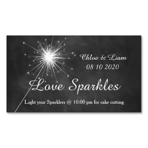 Wedding - Love Sparkles - Sparkler Tag