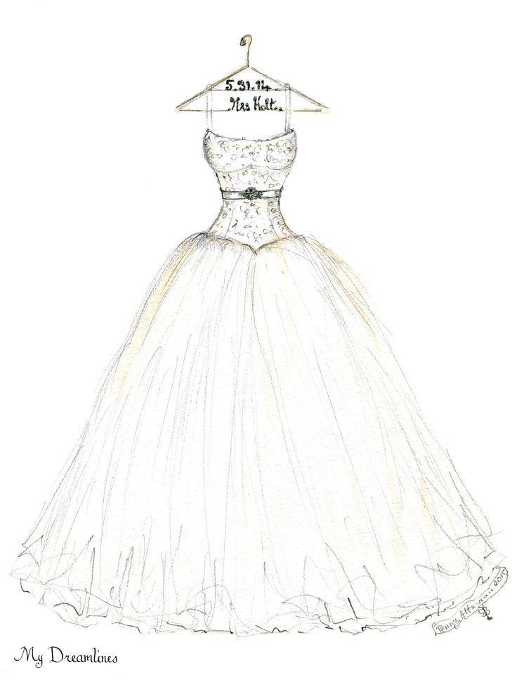wedding dress sketch by dreamlines wedding dress sketch for an
