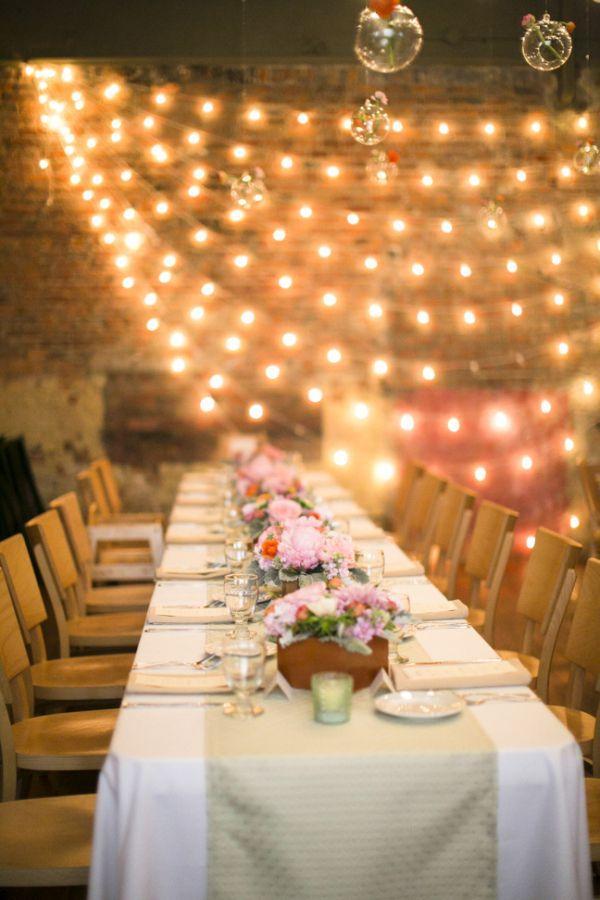 Wedding - Modern Rustic Loft Wedding Reception