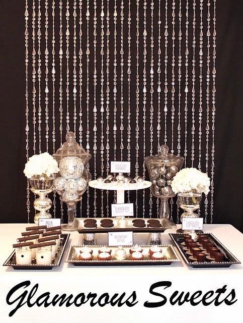 Black White Silver Glamourous Holiday Party Karas Party Ideas