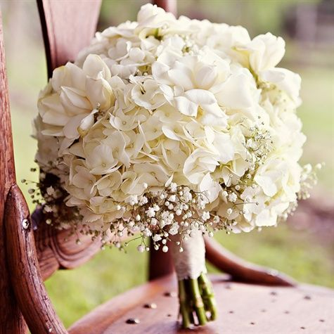 Bouquetflower White Hydrangea Bridal Bouquet 2369043 Weddbook