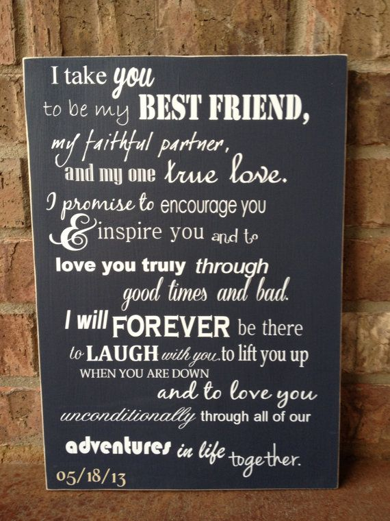 i take you to be my best friend wedding sign perfect shower or wedding gift