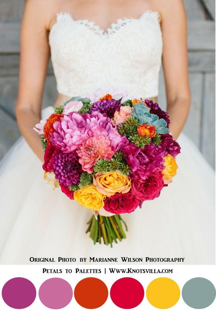 Wedding - Colorful Bouquets: 15 Most Colorful Wedding Bouquets So Far
