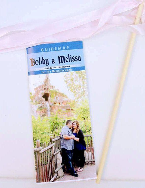 زفاف - Disneyland Wedding Program, Guidemap, Ceremony Brochure, Digital File