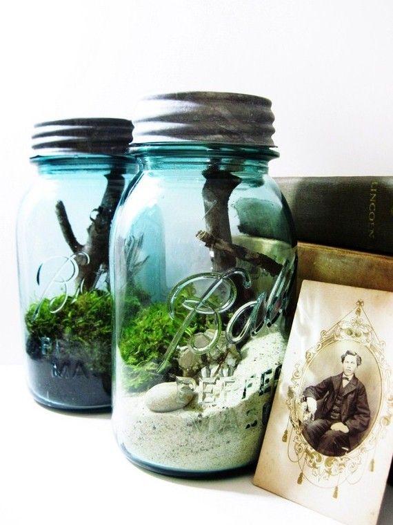 Antique Mason Jar Terrarium My Beach Wedding 2369223 Weddbook