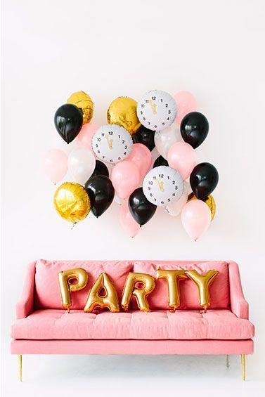 Mariage - DIY Clock Balloon Décor For New Year's Eve - Balloon Time