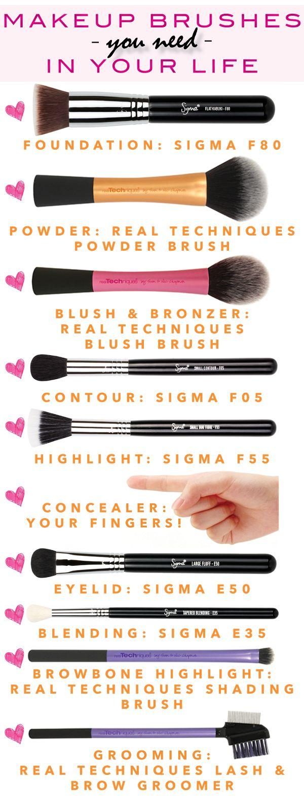 Свадьба - Apply Makeup Like A Pro: Makeup Brushes You Need In Your Life