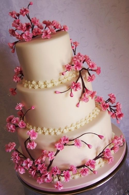 Hochzeit - Awesome Cherry Blossom Wedding Cake Designs