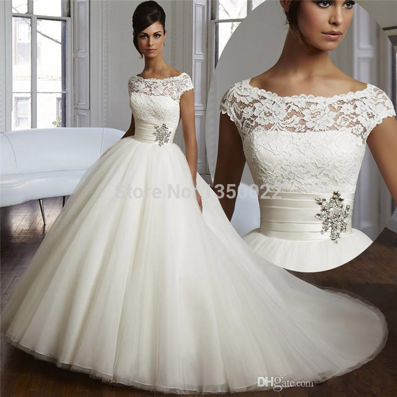 2015 Bling Couture Ball Gown Gorgeous Wedding Dresses Lace