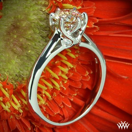 Свадьба - 18k White Gold Vatche 191 Swan Solitaire Engagement Ring