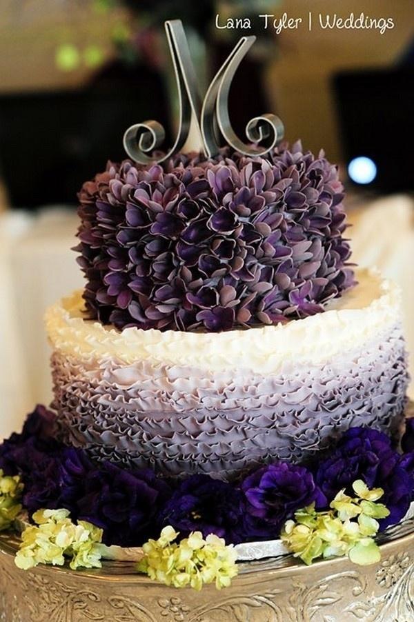 Wedding - Ombre Wedding Cake — Round Wedding Cakes