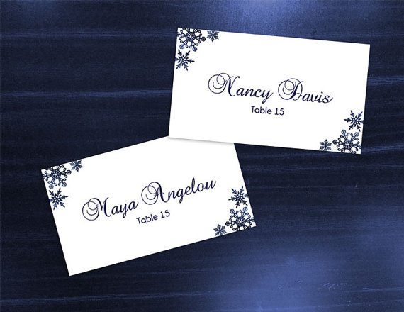 Place card size template