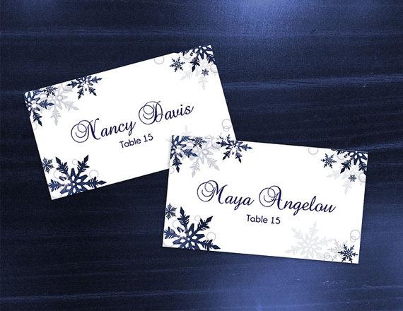 DIY Printable Wedding Place Card Template