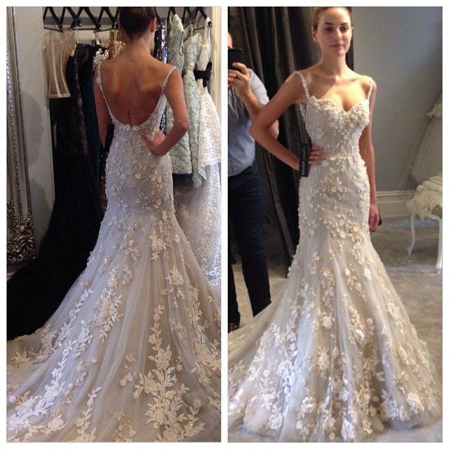 Wedding - 2015 New Spaghetti Straps Sleeveless Backless Mermaid Bridal Wedding Dress Gown