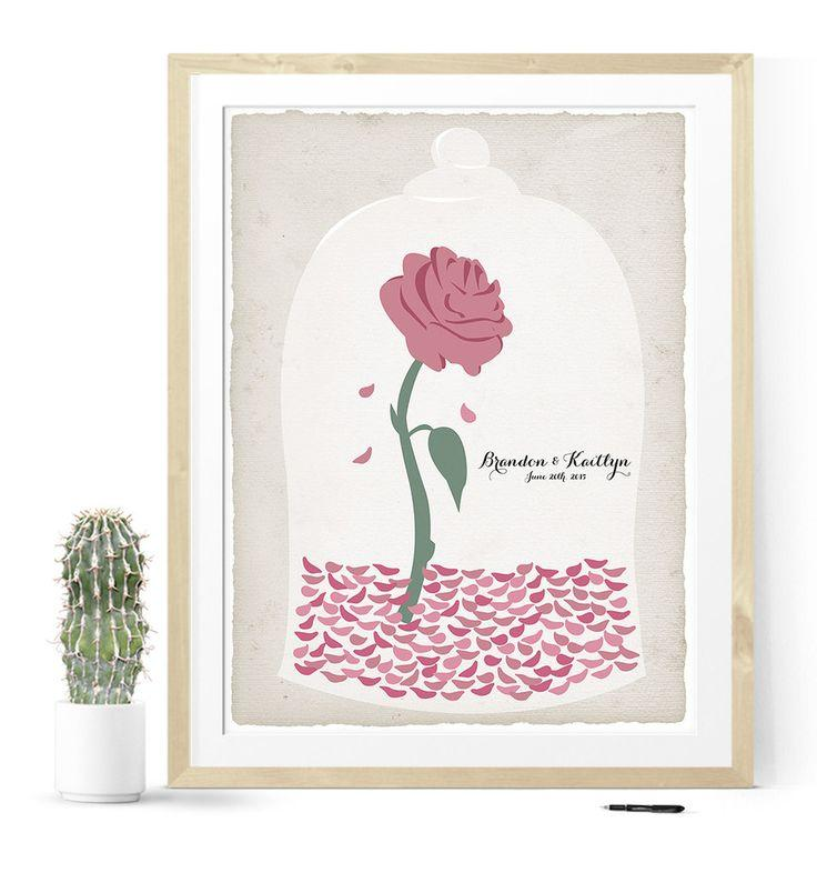 Guest Book Printing: Beauty And The Beast Rose