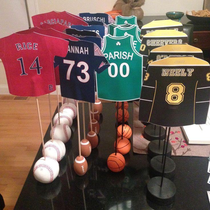 Wedding Theme Boston Sports Themed Table Numbers