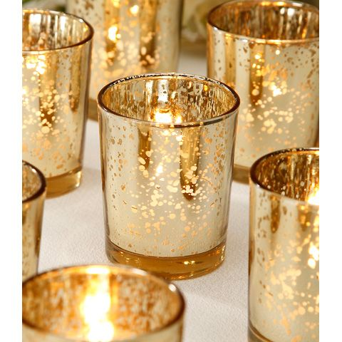 Wedding Decoration Votive Candle Holder In Gold Sold By