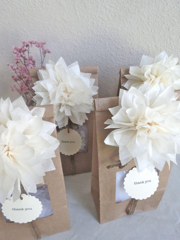 Pom pom party favor kit personalized wedding favors for Shower favors wedding