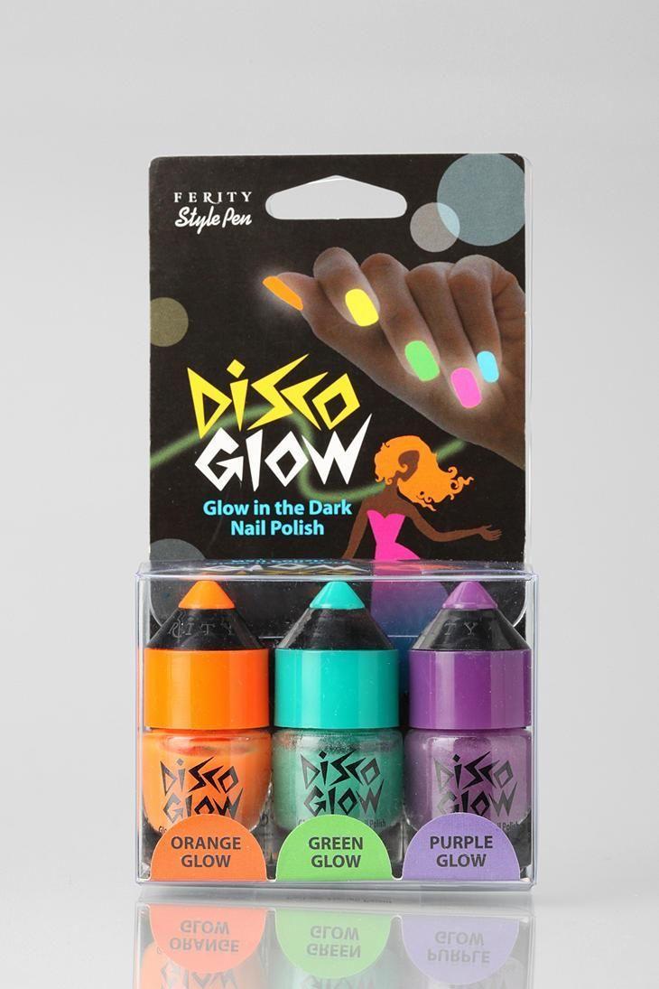 Hochzeit - Disco Glow Nail Set