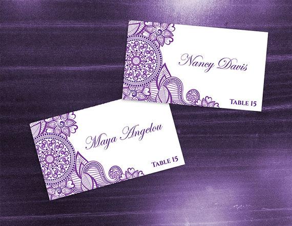 Diy Printable Wedding Place Name Card Template 2370743 Weddbook