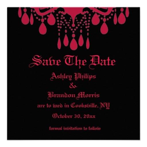 زفاف - Red Gothic Save The Date