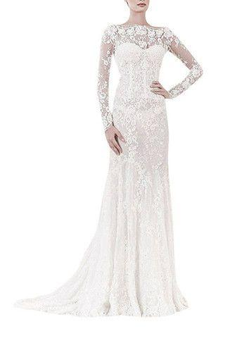 Wedding - Ivory Lace Floor Length Bridal Dress (46299) - MADE To ORDER