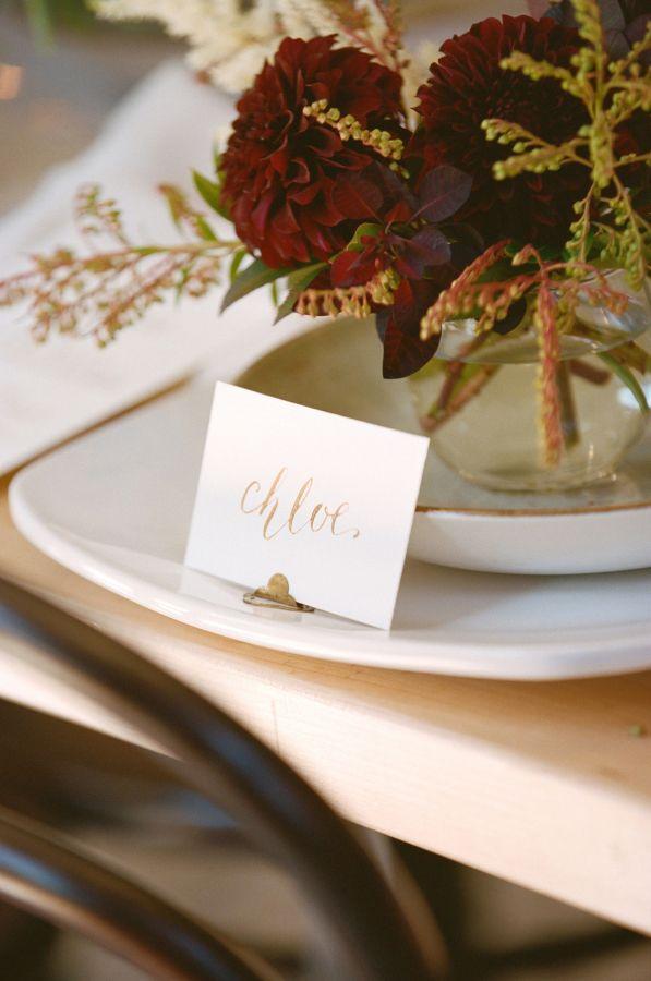 Hochzeit - SMP Blogger Bride: Boxwood Avenue DIY Calligraphy Tablescape