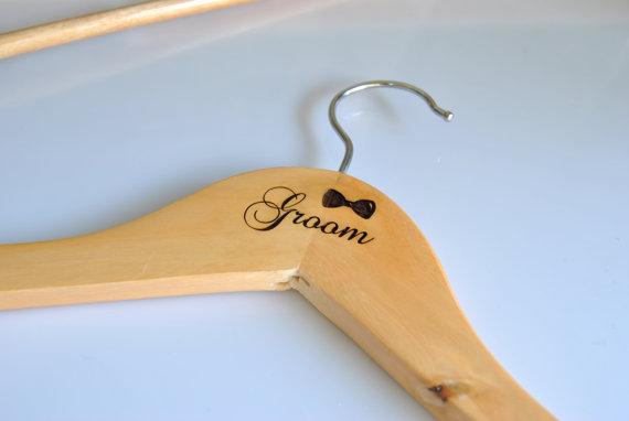 Personalized Wedding Dress Hanger Bride Hangers Engraved Wood Custom Groom Set Of 1