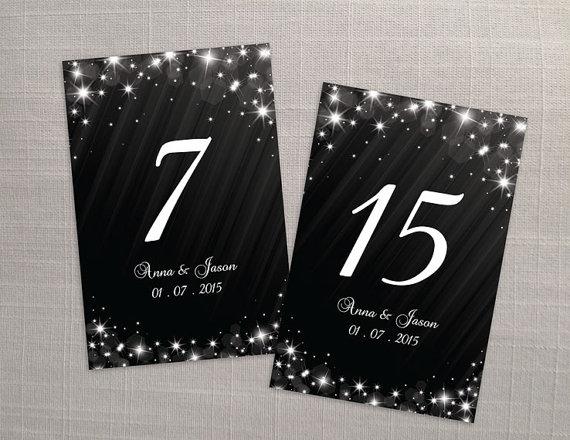 Свадьба - DIY Printable Wedding Table Number Template