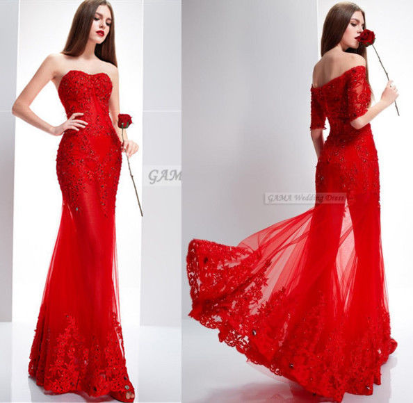 women lace evening dress mermaid prom dress cocktail dress