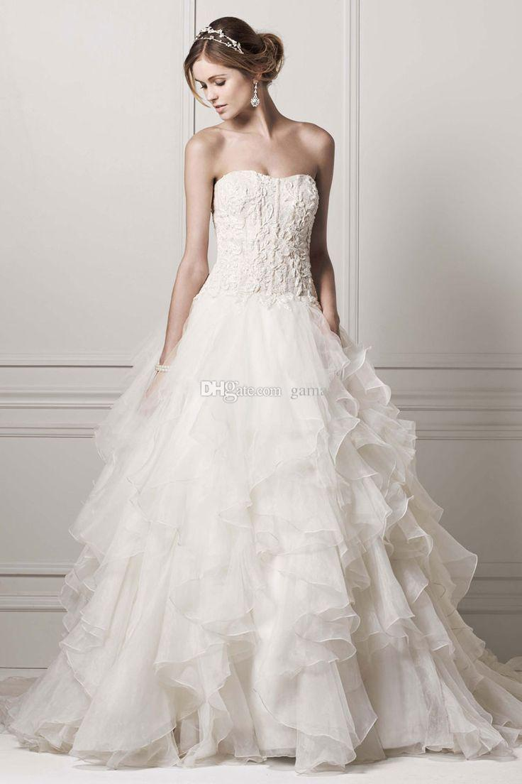 Plus size wedding dresses with corset bodice and beadings for Strapless bustier for wedding dress